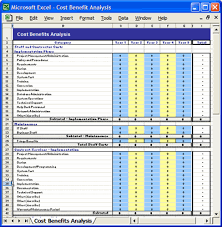 simple cost benefit template excel download