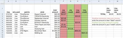 split expenses google sheet download