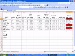 stock trading excel spreadsheet download