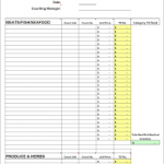 total food and inventory spreadsheet download