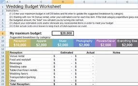 wedding budget breakdown download
