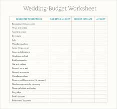 wedding budget spreadsheet the knot download