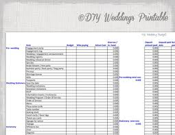 wedding printable budget download