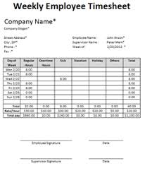weekly timesheet template download