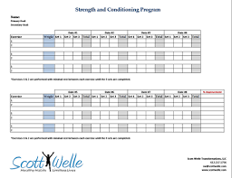 workout template download