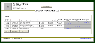 accounts receivable template microsoft excel download