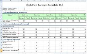 cash flow projections in excel download