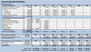 cost and benefit worksheet download