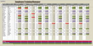 employee training record template excel download
