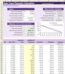 excel car payment schedule download