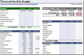 excel monthly budget template download