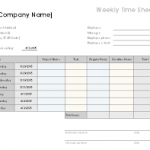 excel weekly timesheet template with formulas download