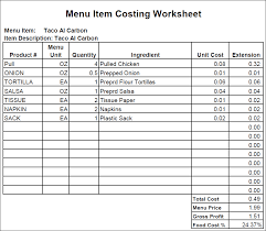 food cost analysis template excel download