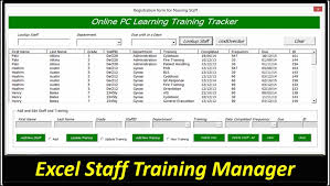 free employee training record template excel download