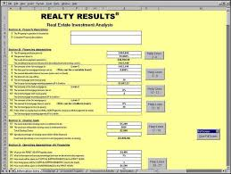 free excel real property investment analysis spreadsheet template download