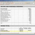 free income and expense worksheet download