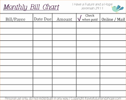 free printable monthly bill payment log download