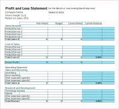 free profit and loss template for self employed download