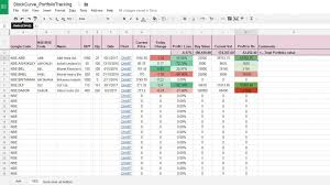 how to make a stock portfolio in excel download