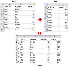 how to merge two excel sheets based on one column download