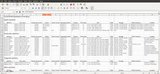 it inventory excel template download