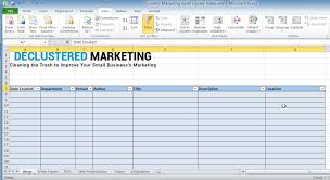 marketing plan excel template free download