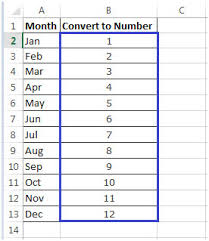 month convert to number spreadsheet download