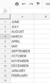 month number to month name google sheets download