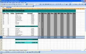 monthly bill organizer excel spreadsheet download