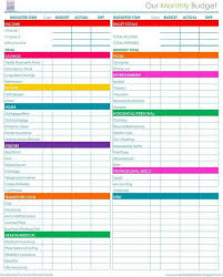 monthly bill spreadsheet free download download