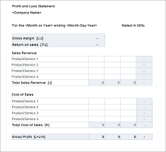 monthly profit and loss template download
