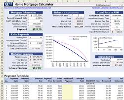 mortgage payment table spreadsheet download