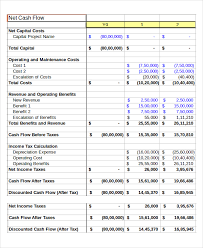 personal cash flow template excel download