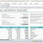 personal monthly income and expense spreadsheet download
