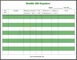 printable bill pay checklist download