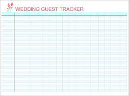 printable wedding guest list download