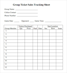 raffle ticket tracking spreadsheet download