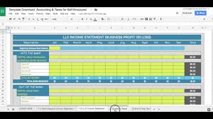 self employed expenses spreadsheet free download