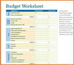 simple budget template word download