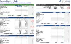 simple personal budget template excel download