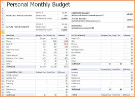 simple personal monthly budget download