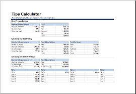 tips calculator spreadsheet download