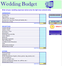 wedding budget estimator download