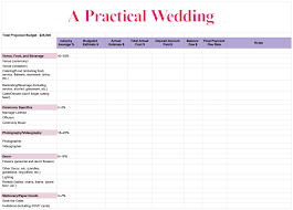 wedding budget excel spreadsheet template download