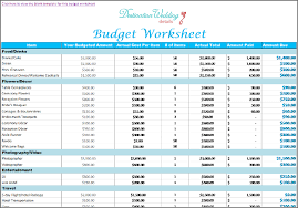 wedding budget template pdf download