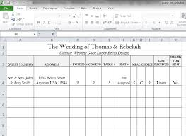 wedding guest list template google docs download