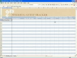 wedding guest list template google sheets download