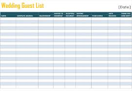 wedding guest list template pdf download