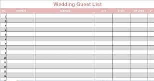 wedding guest list tracker download