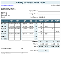 weekly employee time sheet download